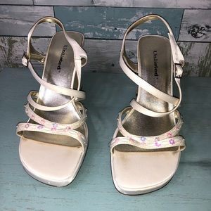 Unlisted Women's Floral Sandal Heels Size 8